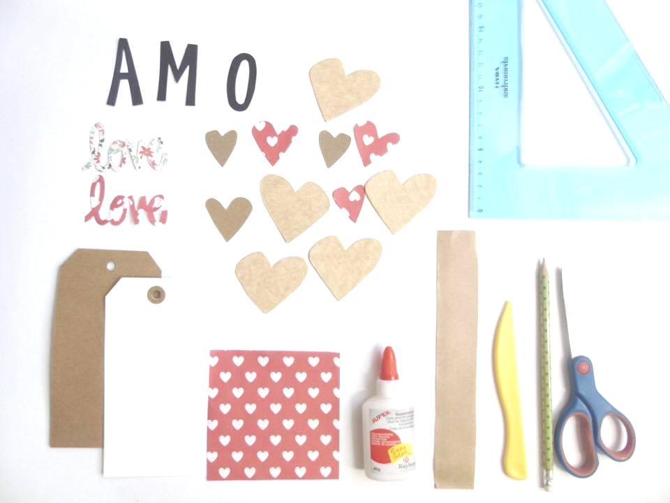 foto materiale per dire ti amo - tutorial san valentino le cose di chiara