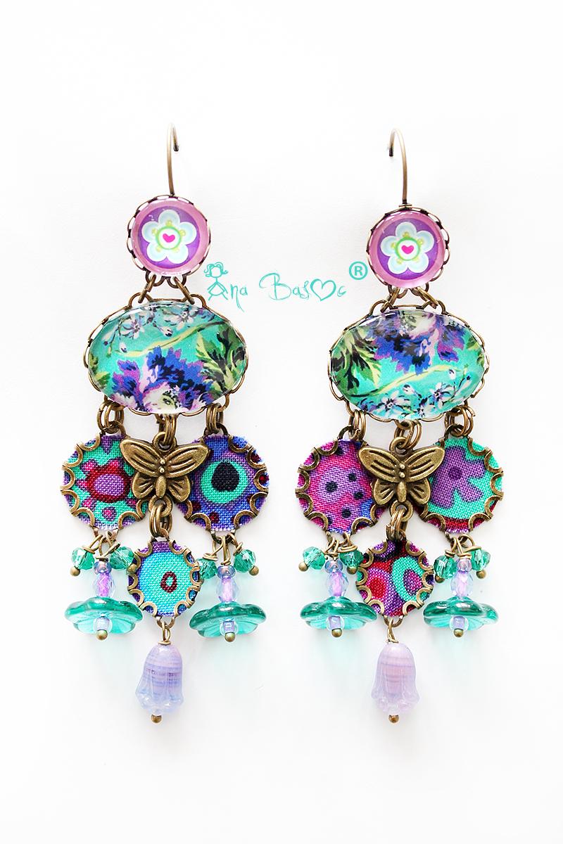 orecchini farfalle turchesi